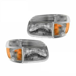 Airstream Land Yacht Replacement Headlights & Signal Lamps 4 Piece Set (Left & Right)